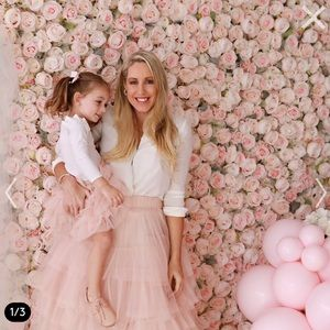 Matching mom+daughter layered tulle skirts.
